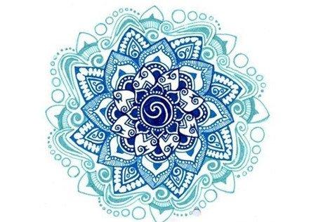 tatuaje de loto mandala